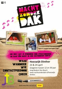 Jongeren in actie met 'Nacht Zonder Dak'